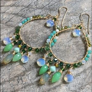 Luxe lush apple green hoops